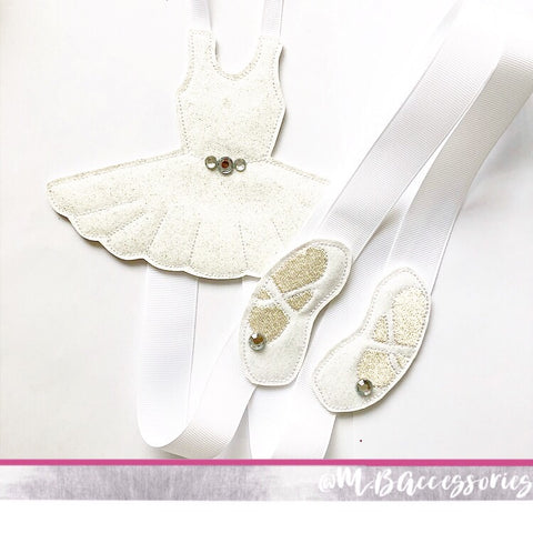 White ballet dancer bow holder
