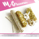 Gold sequin bauble bow