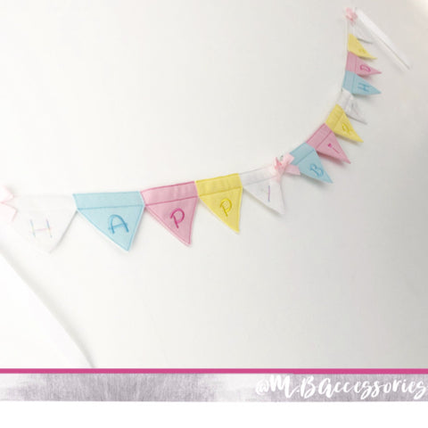 Rainbow birthday bunting