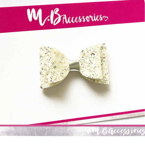 Ivory sparkle bow