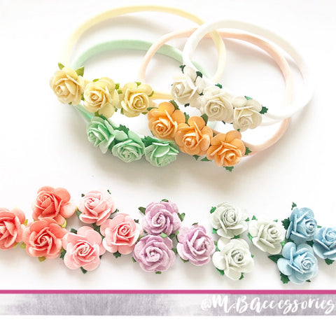 Mulberry flower headband