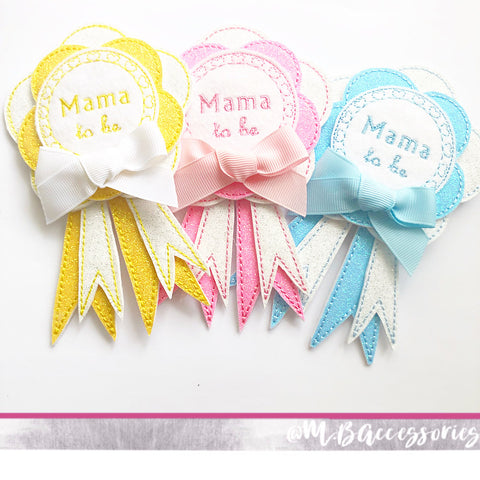 'Mama to be' baby shower badge