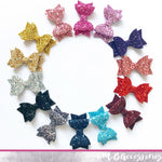 Small glitter dolly bow