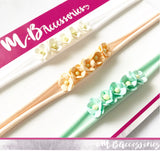 Small mulberry flower headband
