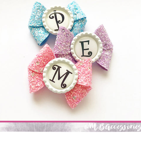 Bottlecap sparkle bow