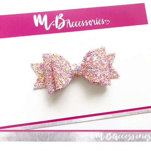 Summer days glitter bow