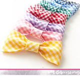 Chunky bias gingham pinch bow