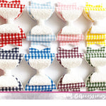 Gingham fabric and glitter bow