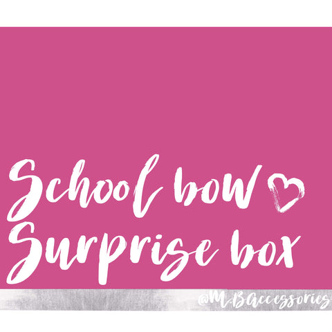 School bow surprise box