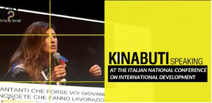 KINABUTI SPEAKING AT THE ITALIAN NATIONAL CONFERENCE ON INTERNATIONAL DEVELOPMENT