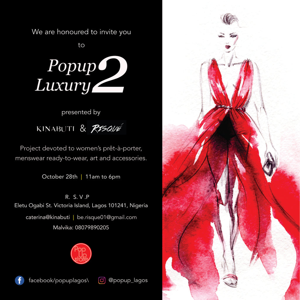 Risqué & Kinabuti presents POPUP LUXURY 2 | Saturday 28th October | RSVP | 11am to 6pm