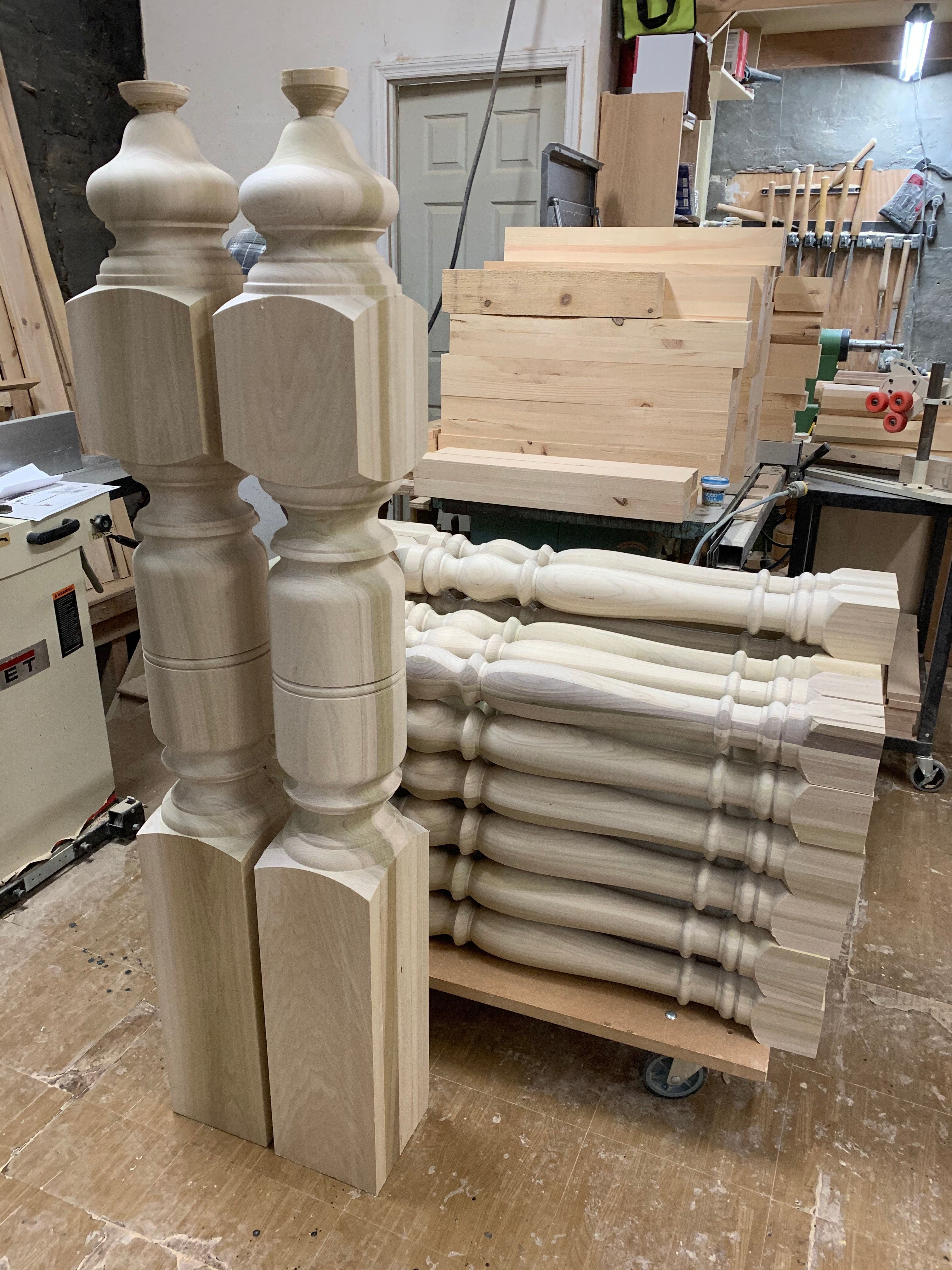 Stairs post and balusters