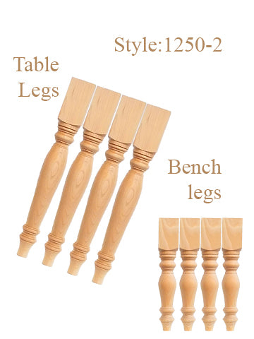 "29""Table Legs & 18"" Bench Legs - TABLELEGSHOP"