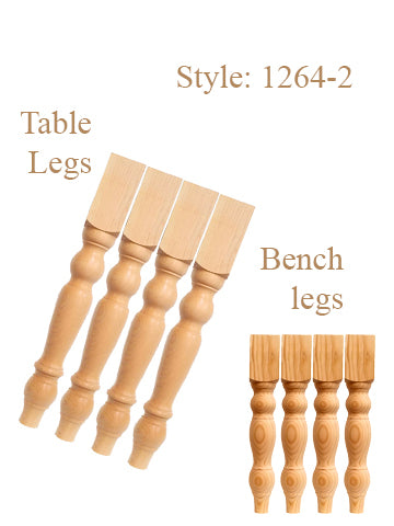 "29""Table Legs & 18"" Bench Legs"