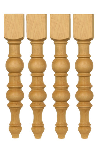 Unfinished Dining Pine Table Leg  set of 4