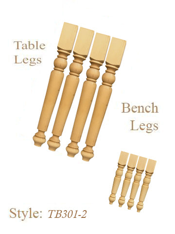 table & bench legs