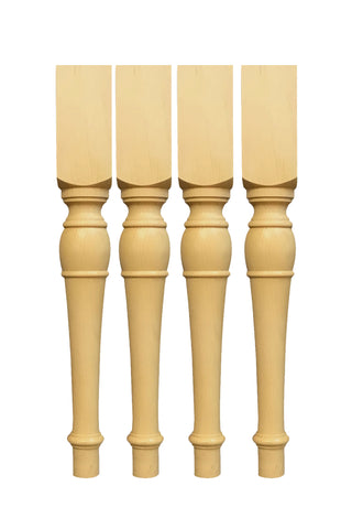 29'' Knotty pine dining Table Legs