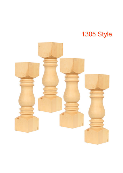 Set of 4 Unfinished Coffee Table Legs 14 X 4 TABLELEGSHOP