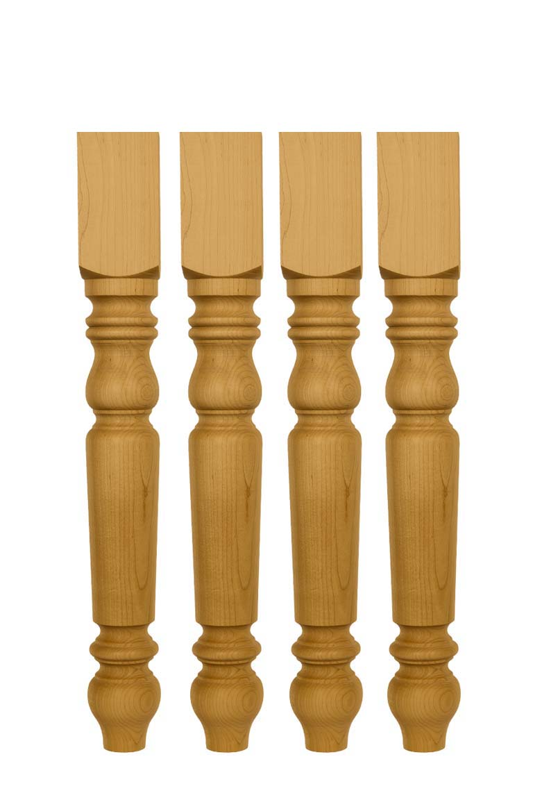 Set of 4 Unfinished Solid Knotty pine Dining Table Legs  29 X 3 12