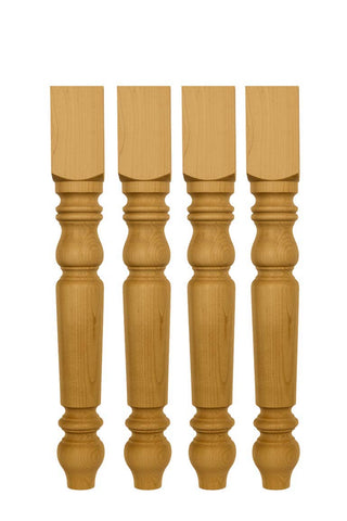 Unfinished Pine Table Legs set of 4