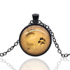 Dog Paw & Footprint Pendant Necklace