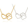 Dog Paw & Heart Necklace