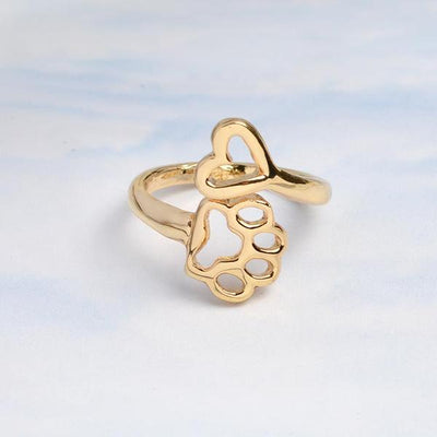 Heart & Dog Paw Ring ($1 donated from every sale to dogs trust)