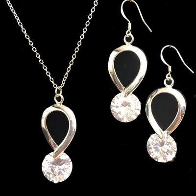 Clara Crystal and Sterling Silver Earrings