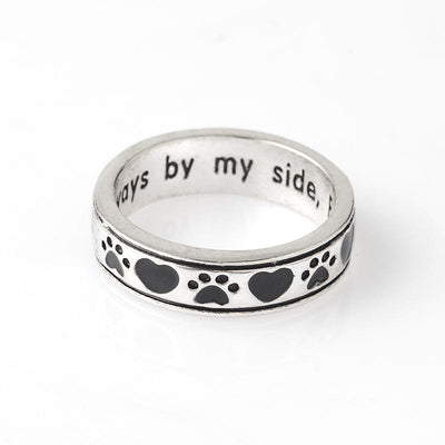 """Always by my side, Forever in my Heart"" Dog Ring"