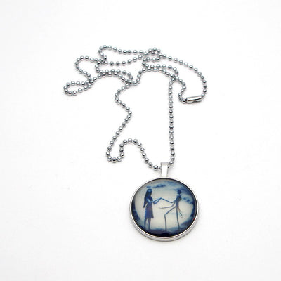 Jack and Sally Glass Pendant