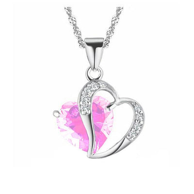 Exquisite Heart Stones Necklace