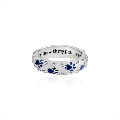 """When I am with my pet I am complete"" Dog Ring"