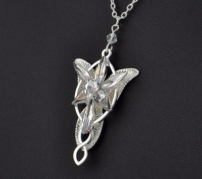Evenstar Silver Pendant Necklace and Earrings