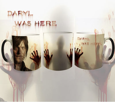 The walking dead magic mugs daryl was here. Heat Sensitive Color changing coffee tea cup mug.