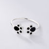 Double Dog Paw Ring