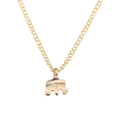 Elephant Pendant Chain Necklace