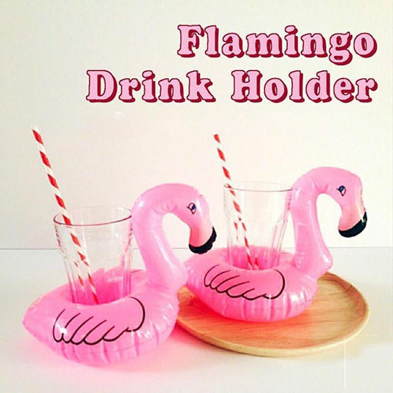 Mini Pink Flamingo Drink Holder Float