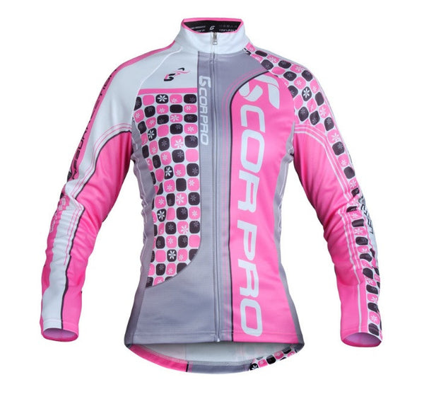 Jersey Térmico Ciclismo Gcorpro Mujer Pink Rider