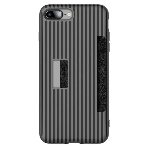 Classy Striped Phone case for iPhone 7 / 7+ Card Slot case