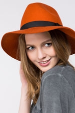 Burnt Orange Wavy Hat