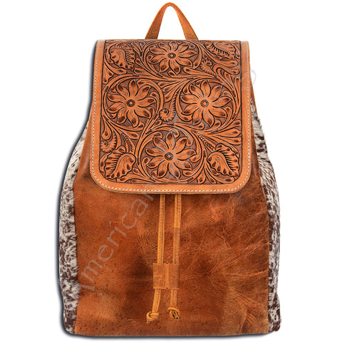Tooled Leather Back Pack