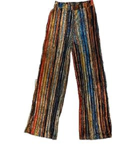 Mulit Color Velvet Stripe Pants