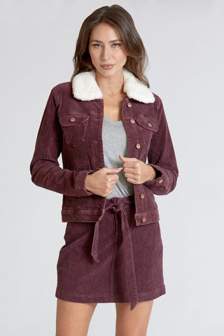 Alyssa Jacket in Mulberry