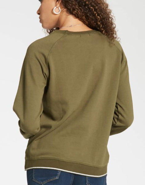 Anabel Cross Dye Lurex Rib Sweatshirt