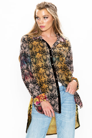 Midnight Floral Shirt ~Aratta