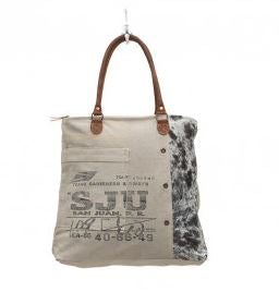 Myra Bag Segmented Life Upcycled Canvas Tote Bag