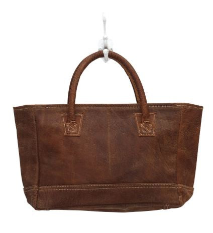 Myra Bag White Stitched Leather
