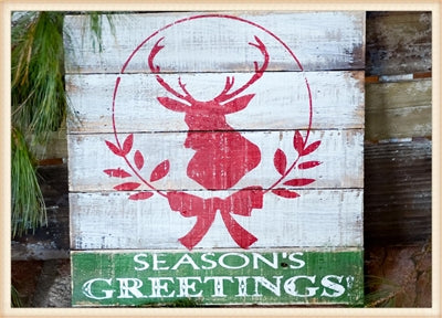 Seasons Greetings Plaque