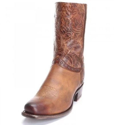 Sonora Bailey Tooled Floral Studded Ankle Boots