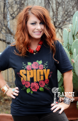 Spicy T-Shirt with Roses